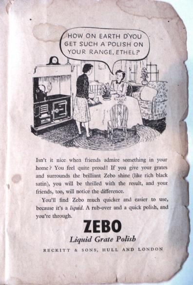 Zebo ad, from my grandmother's cook book